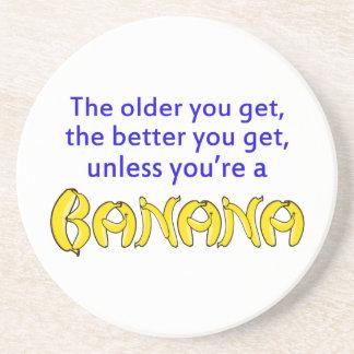 よりよく年齢のバナナとユーモアのある コースター