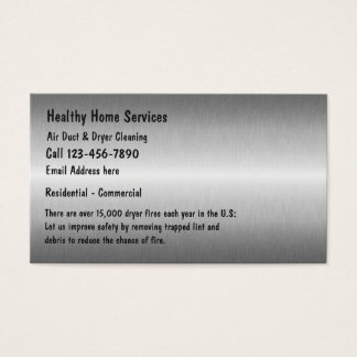 より乾燥した出口のクリーニングサービス 名刺