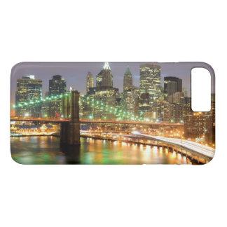 より低いマンハッタンおよびブルックリン橋の眺め iPhone 7 PLUSケース