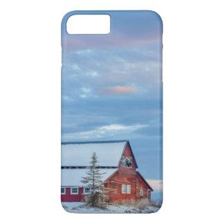 より低い谷の古い木の赤い納屋 iPhone 8 PLUS/7 PLUSケース