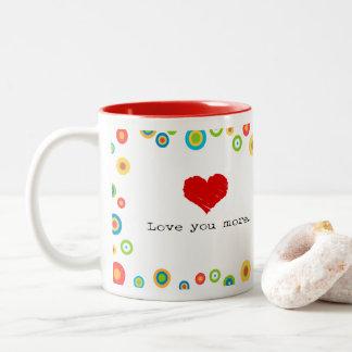 より写実的なマグ愛して下さい ツートーンマグカップ
