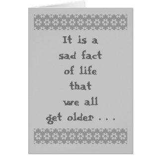 より古い墓石のユーモアを得ること カード