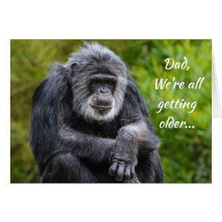 より古い最低に動物のゴリラのパパの誕生日を得ます カード
