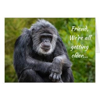 より古い最低に動物のゴリラの友人の誕生日を得ます カード