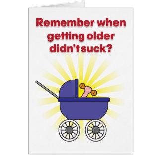 より古くなることはユーモアのあるなバースデー・カードを吸いませんでした カード