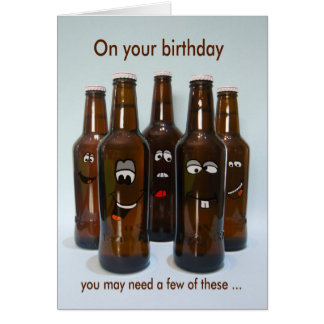 より古くなる誕生日ビールユーモア カード