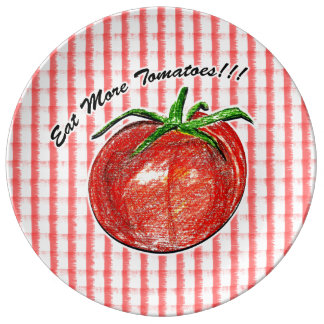 より多くのトマトを!食べて下さい!!  装飾的な磁器皿 磁器プレート
