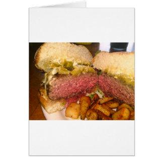 より多くのハンバーガーのmerch! グリーティングカード