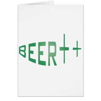 より多くのビール カード