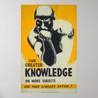 より多くの主題ポスターのより素晴らしい知識のため ポスター