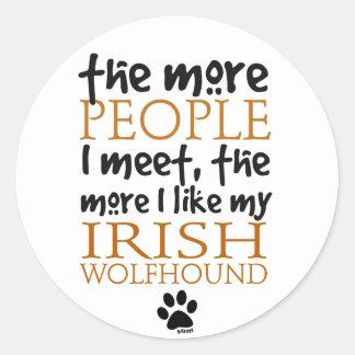 より多くの人々私は…アイリッシュ・ウルフハウンドに会います ラウンドシール