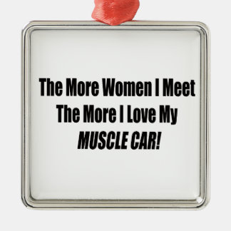 より多くの女性に私は多くにI愛私の筋肉会います メタルオーナメント
