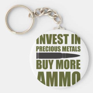 より多くの弾薬を買って下さい、金属に投資して下さい キーホルダー