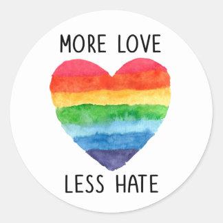 より多くの愛より少ない憎悪のステッカー ラウンドシール