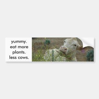 より多くの植物を食べて下さい。  より少ない牛 バンパーステッカー