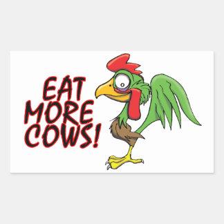 より多くの牛を食べて下さい! 長方形シール