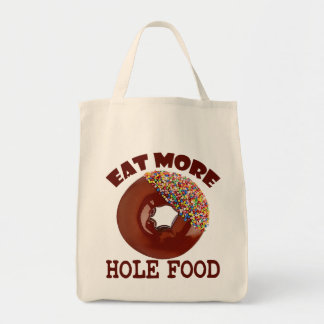 より多くの穴の食糧を食べて下さい トートバッグ