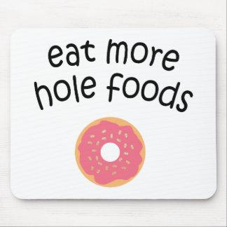 より多くの穴の食糧マウスパッドを食べて下さい マウスパッド