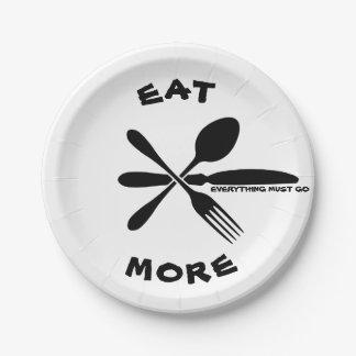 より多くの紙皿を食べて下さい ペーパープレート