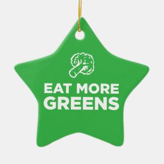 より多くの緑を食べて下さい セラミックオーナメント