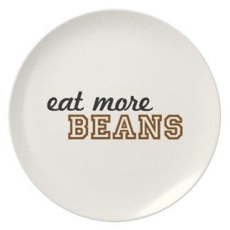 """""""より多くの豆""""のプレート食べて下さい プレート"""