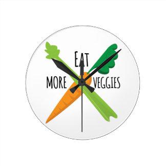 より多くの野菜を食べて下さい ラウンド壁時計