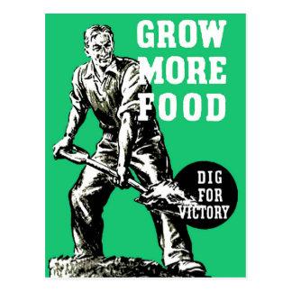 より多くの食糧を育てて下さい ポストカード