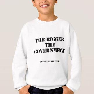 より大き小さい スウェットシャツ