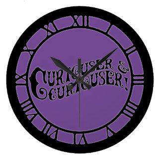 より好奇心が強く、より好奇心が強いアリスの引用文 ラージ壁時計