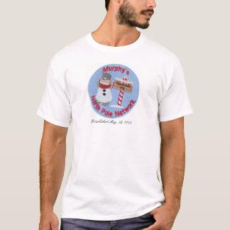 より小さいロゴのワイシャツ-マーフィーの北極ネットワーク Tシャツ