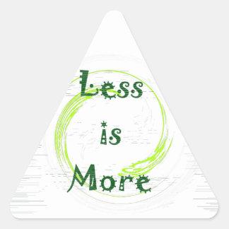 より少しはMenosのより多くのé Maisです 三角形シール