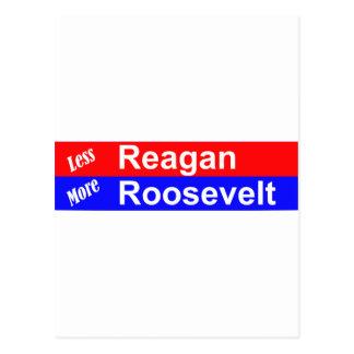より少ないレーガン横のより多くのルーズベルト ポストカード