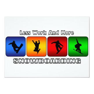 より少ない仕事およびより多くのスノーボード カード