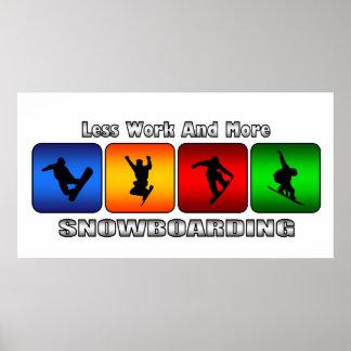 より少ない仕事およびより多くのスノーボード プリント