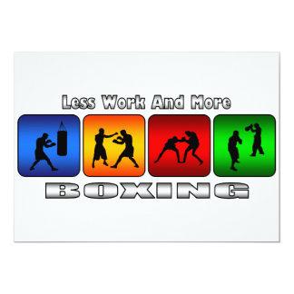 より少ない仕事およびより多くのボクシング 12.7 X 17.8 インビテーションカード