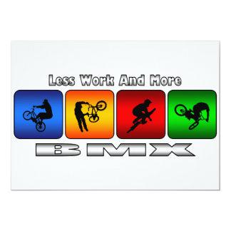 より少ない仕事およびより多くのBMX 12.7 X 17.8 インビテーションカード