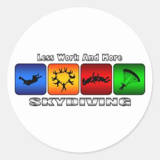 より少ない仕事およびより多くのSkydiving ラウンドシール