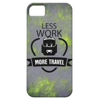 より少ない仕事より多くの旅行テーマ移動式カバー iPhone SE/5/5s ケース