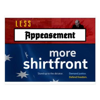 より少ない緩和、より多くのワイシャツの胸(完全な) ポストカード