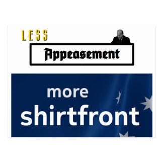 より少ない緩和、より多くのワイシャツの胸(輪郭) ポストカード