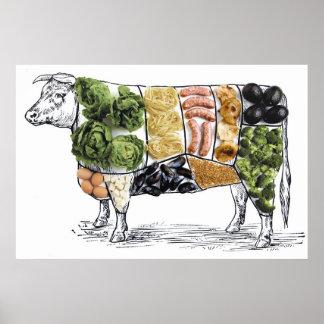 より少ない肉を食べる10の方法 ポスター