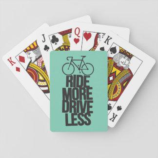 より少なくバイクのサイクリングの自転車の乗馬のバイクもしくは自転車に乗る人 トランプ