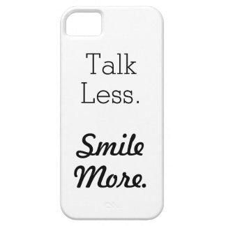 """""""より少なく話。 もっと微笑させて下さい""""。 場合に電話をかけて下さい iPhone SE/5/5s ケース"""