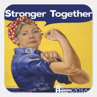 より強いヒラリー・クリントン一緒に スクエアシール