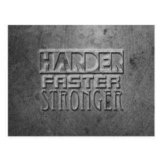 より懸命により速くより強い ポストカード