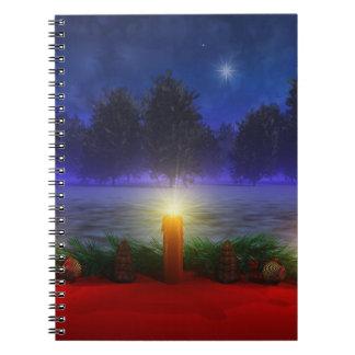 より明るい視野のクリスマスのノート ノートブック