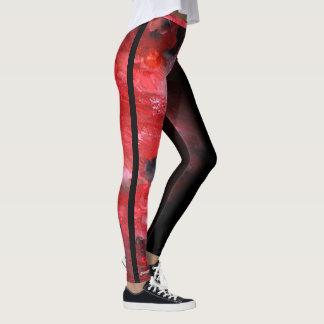 より暗い赤の抽象芸術 レギンス