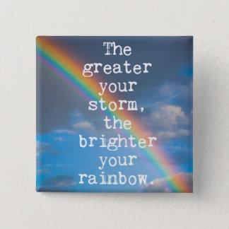 より素晴らしいのあなたの嵐の引用文 5.1CM 正方形バッジ