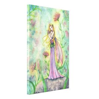より素晴らしいギフトの妖精の母およびベビーのキャンバスのプリント無し キャンバスプリント