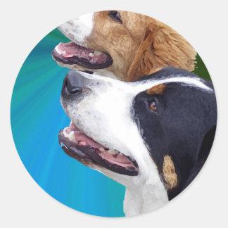 より素晴らしいスイス山犬およびサンベルナール峠犬 ラウンドシール